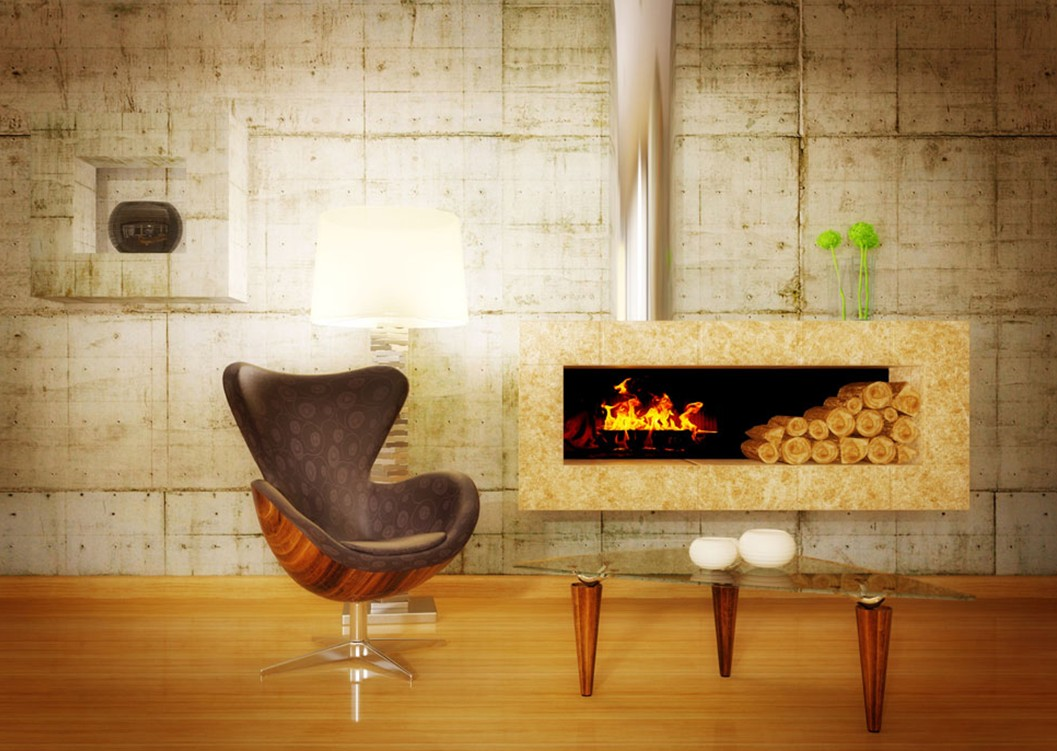 fireplace-and-wood-floor-for-living-room